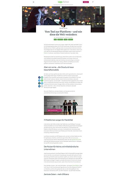 Screenshot Sage Blogartikel