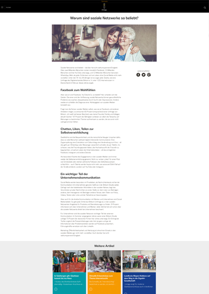 Screenshot innogy Blogartikel