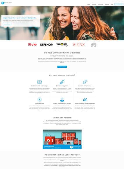 Screenshot Odocscope Webseite