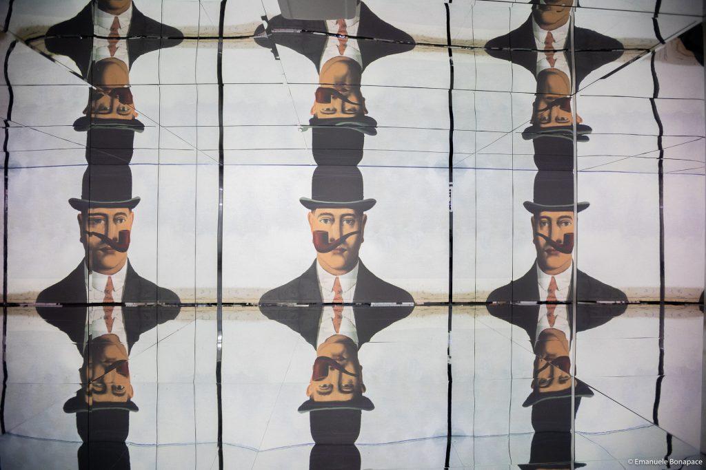 Kunst Projektion im Museum