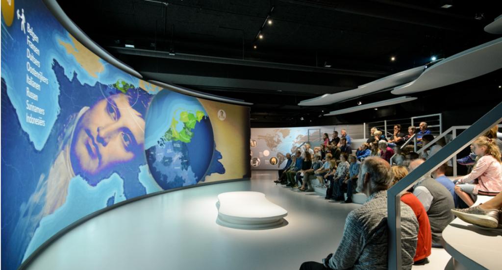 Projektion in einem Museum