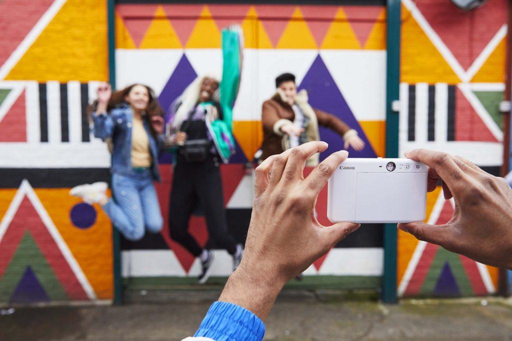 Canon Kamera weiß schöne Momentaufnahmen