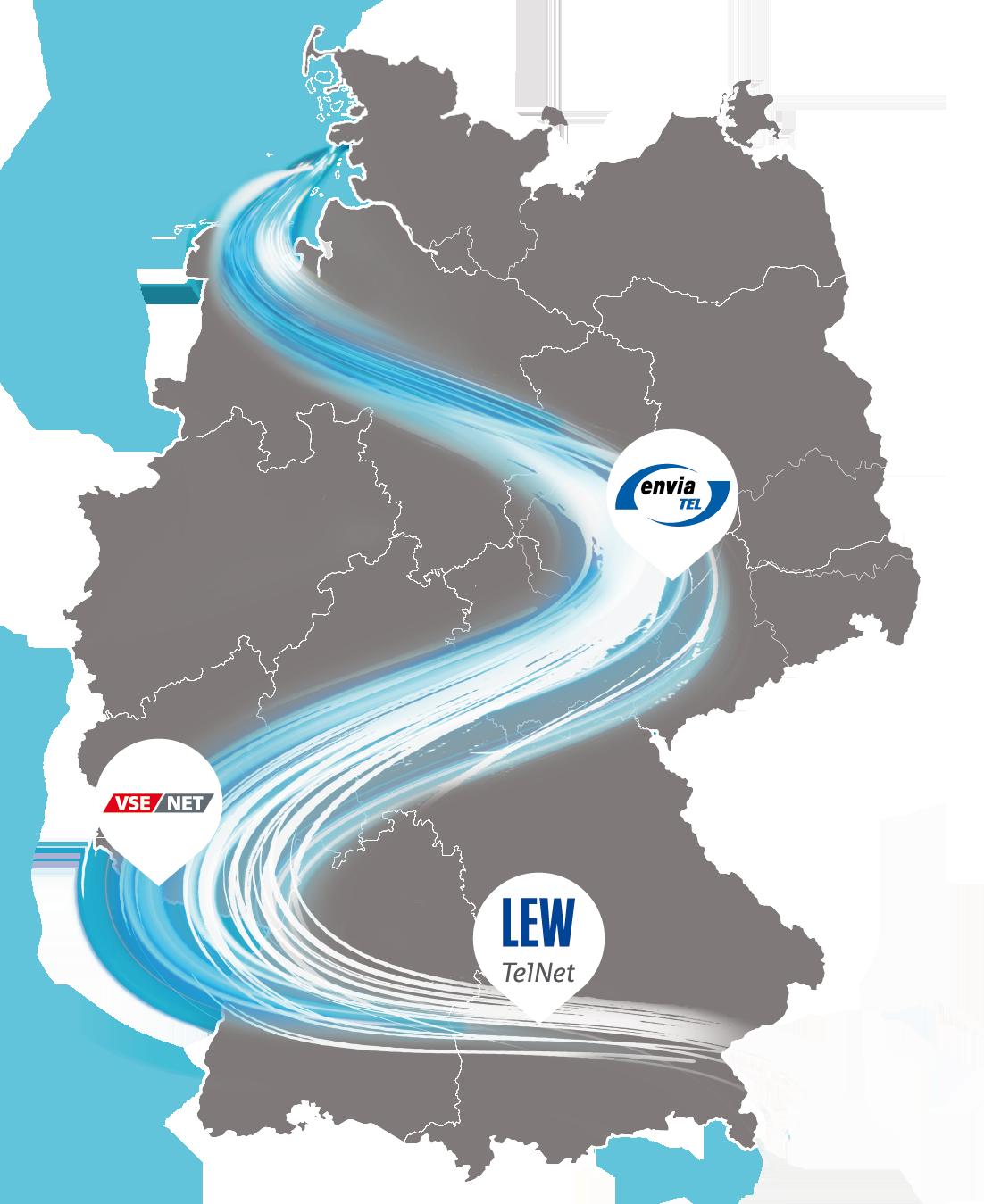 datacenter union deutschland karte mit standorten
