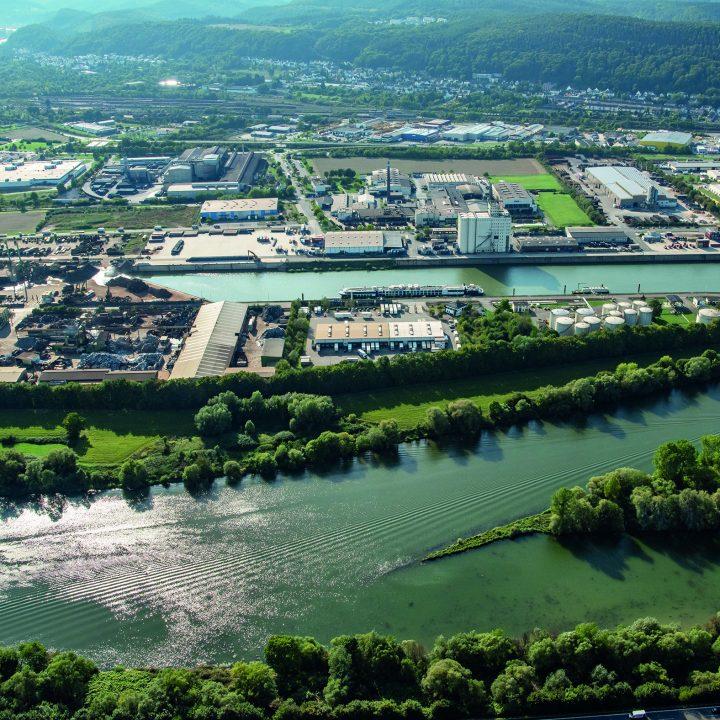 Hafen Trier Luftaufnahme