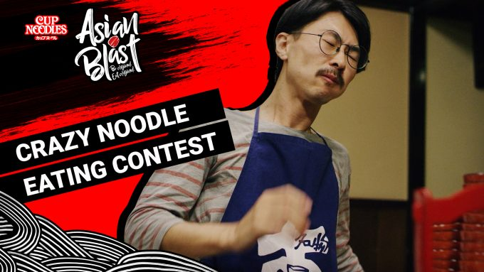 Video: Crazy noodle eating contest
