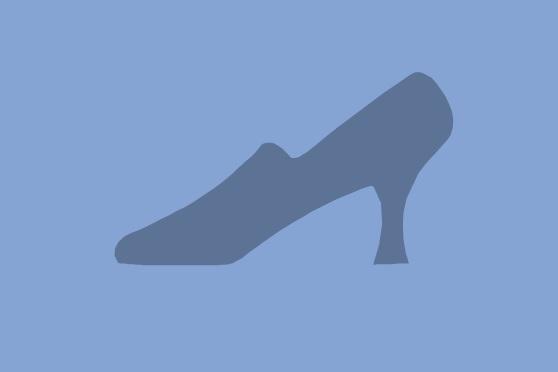 Kundenzufriedenheit blaue Schuhe